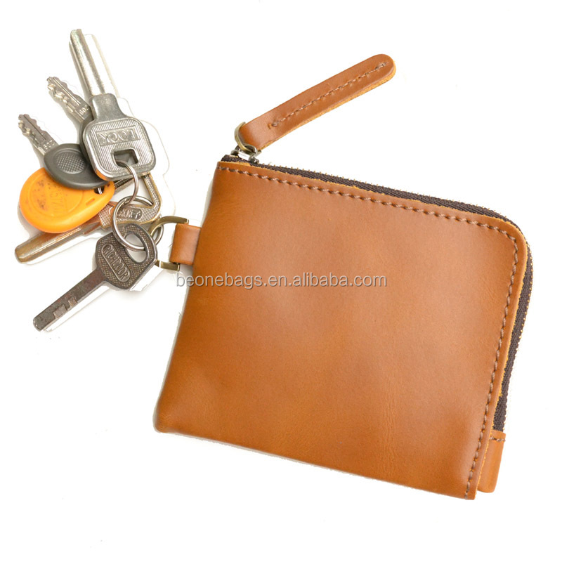 Men Small Leather Purse to Hold Cash Coin and Credit Card