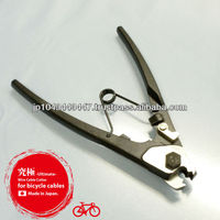 Sharp-edged wire cutters for use with bicycle control cable