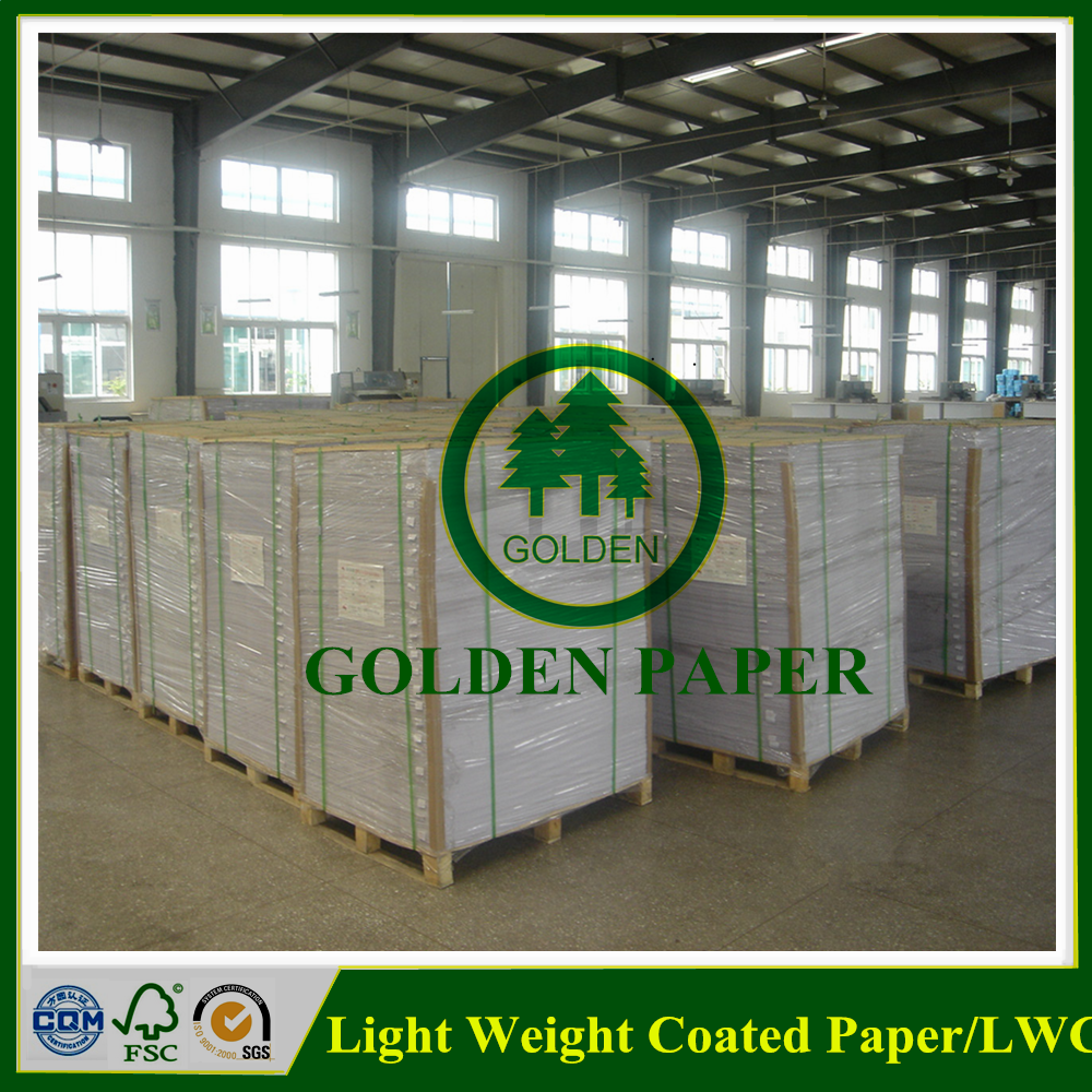 wood pulp LWC paper in roll or sheet light weight coated paper