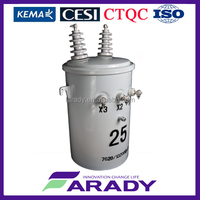 low loss oil distribution pole mounted single phase transformer