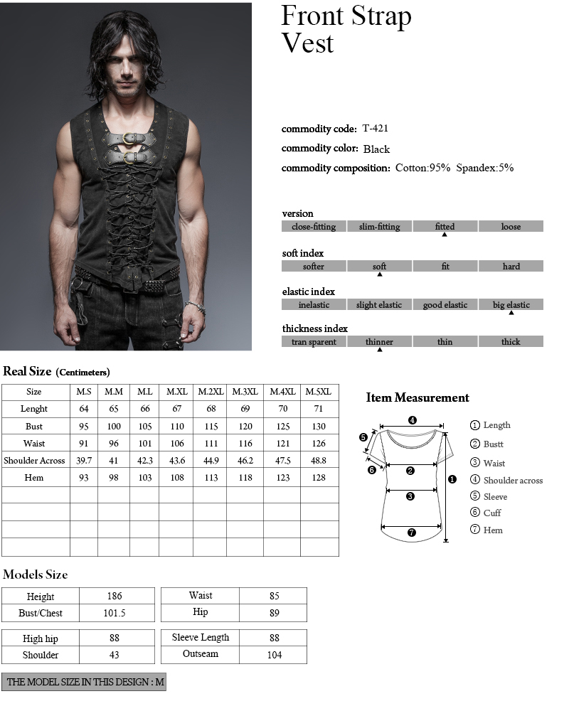 T-421 Black 2016 Summer o neck Rock Cause Cotton Leather Belt Sleeveless ManT-Shirt