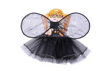 folding fairy wings black witch costume girl halloween costume fashion 2016 children clothing