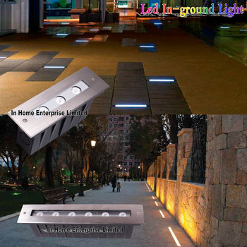 18W Rectangular Outdoor Led Ground Light IP67 Waterproof Outdoor Lighting