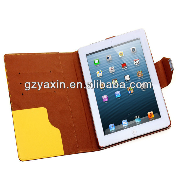 tooled leather for ipad case,orange leather case for ipad with keyboard