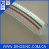 Three Lines Colored Clear Reinforced PVC Hose / Polyurethane Tubing / Soft PVC Hose for Cenveying Water Hose Pipe