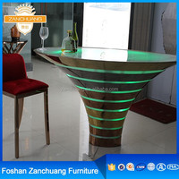 Bar stool commercial bar led round table, metal steel base led bar table