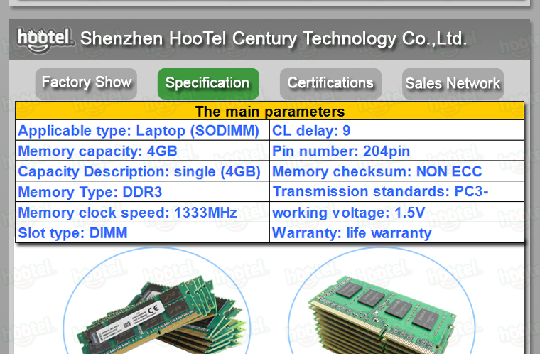 Hot sale ddr ram price in china ddr3 4gb 1333mhz to all the motherboard