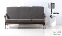 Triumph italian style sofa set living room furniture / executive hotel living room sofa / simple solid wood best selling