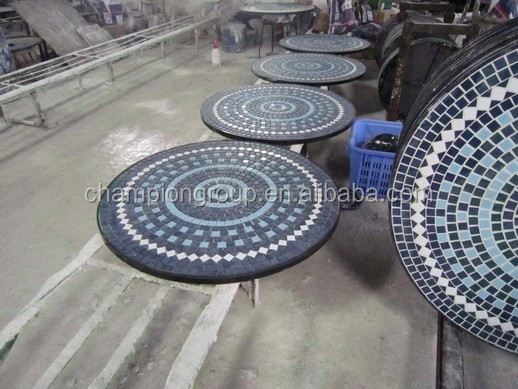 Slate mosaic table outdoor garden mosaic table mosaic tile buy outdoor gard - Table exterieur mosaique ...
