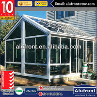 High Quality Modern Design Aluminium Glass Garden House made in China
