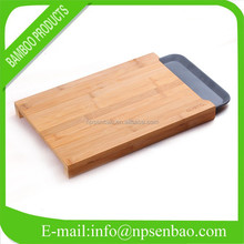 Custom Bamboo Vegetable Cutting Board with Tray