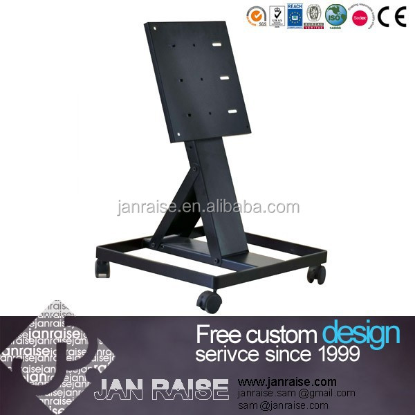Modern tv stand metal furniture plasma tv stand with wheel