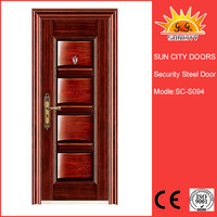 Sun City fancy lowes exterior wood iron doors SC-S094