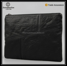2016 fashion high capacity men pouch leather clutch bag document hand bag for ipad leather case