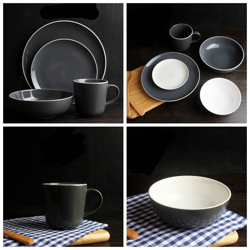 color cheap bone china crockery ceramic porcelain dinnerware set