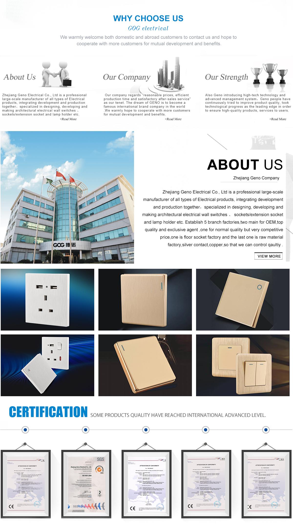 Zhejiang Geno Electrical Co., Ltd. - Switches, Sockets