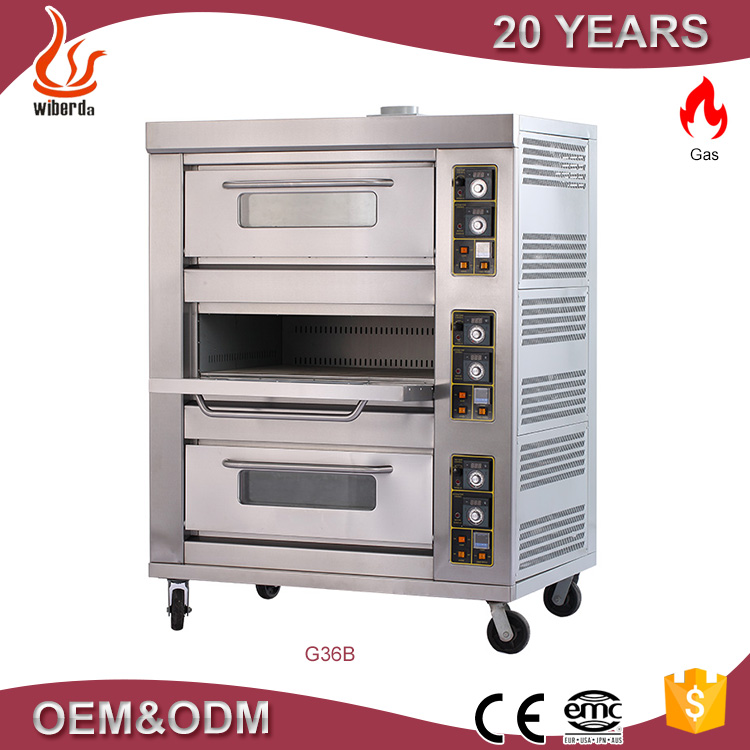 Commercail equipment 3 layer 9 deck commercial gas bread oven /bakery machines/price of bakery machinery G39B