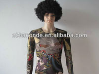 2013 hot sale fake tattoo shirt for adult