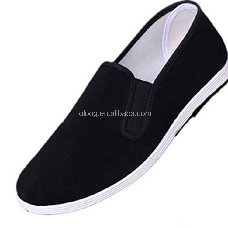 Men Black Chinese Traditional Beijing Cloth Shoes for Kung Fu Tai Chi