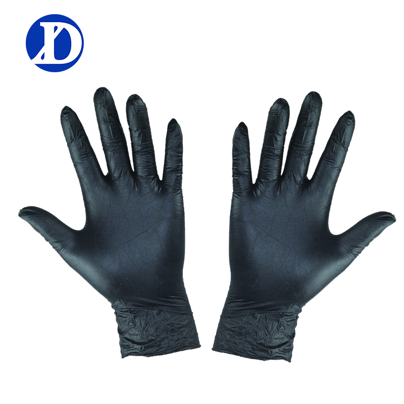 Free Sample Top Grade Black Latex Examination Nitrile Disposable <strong>Gloves</strong>