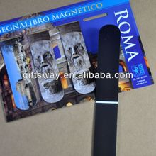 New arrived cheaper full color printing craft eco-friendly magnetic bookmark for Italy decoration