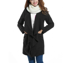 Korean style fashion women jacket vintage black long sleeve loose jacket for women