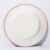 FDA Food Grade enamel Plate with colorful rim