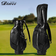 High-end custom unique genuine leather golf Bag for promotion