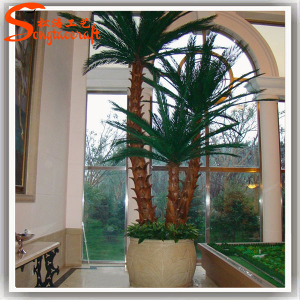 Indoor decor fake faux tree decorative palm tree plants for Artificial plants indoor decoration