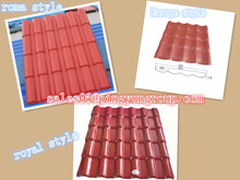 pvc tiles for plastic roofing price/Roma type resin roof tile/hot sale fireproof synthetic resin roofing tile