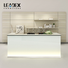 modern appearance office counter design glass reception desk