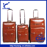 2015 hot sale brown PU Travel returning to ancients urban trolley luggage