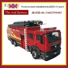 Fire truck die cast metal open door scale diecast toy car