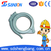 Familiar with ODM factory Dn150 concrete pump parts ihi pipe jointing clamp