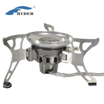 Ultralight 140g/h Folding Small Size Wind Resistant Portable Mini Hiking Outdoor Camping Cooking Gas Stove with Plastic Box