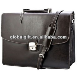 Classic Vintage Professional Men's Leather Carrying Briefcase Messenger Bag NEW