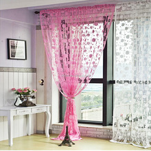 1m x2m Romantic Pink Tassel Drape Line String Curtain for Window Vestibule Door