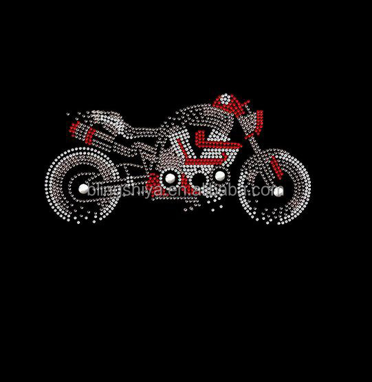 cool motorcycle crystal rhinestone iron on transfer appliques