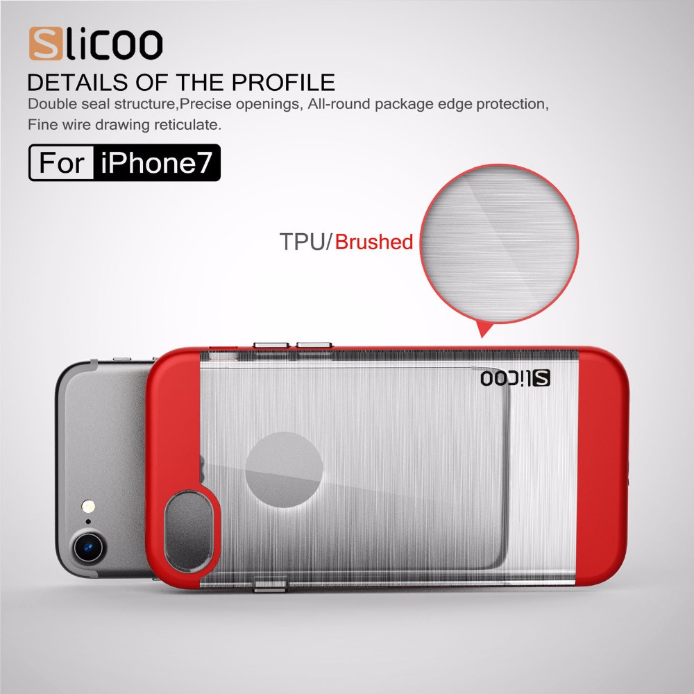 For iphone 7 case ultra-thin TPU case transparent Silicon Soft pouch Clear 2 in 1 front and back cover for apple iphone 7