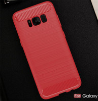 For samsung galaxy s8 case, for galaxy s8 case, carbon fiber mobile phone soft tpu s8 case