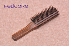 Customized Brown Hardwood nylon and boar bristle brush hair