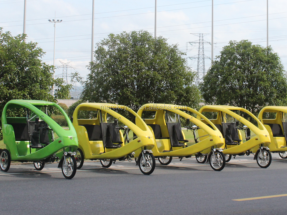 Long-time Using 1000W Brushless Motor 3 Wheel Pedicab Taxi Bike