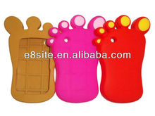 For BlackBerry Curve 8520/9300 3D Foot Rubber Cases