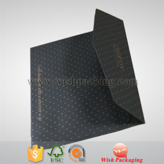 Self adhesive sticker strip paper envelope in solid black color