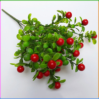 Cheap Hot-selling Home Decoration Artificial Plastic Red Berries Branch