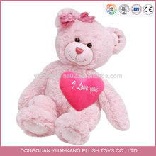 Wholesale Beautiful Pink Plush Toy Valentines Teddy Bears