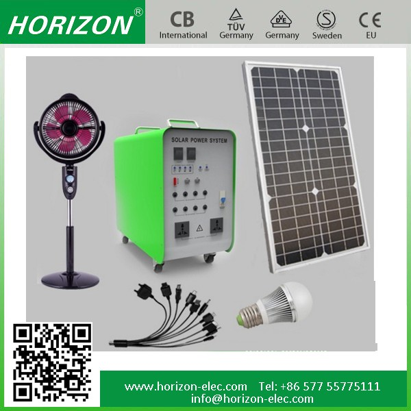 solar panel off grid system complete 50W Panel 24AH Battery 300W Inverter Solar Power System for Home Lighting and Appliances