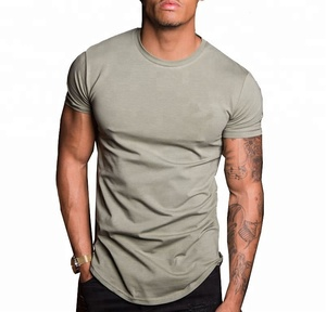 Hot sale gym wear polyester spandex mens t shirts