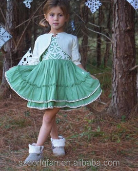 Latest design high quality wholesale children's boutique well dressed wolf remake dress