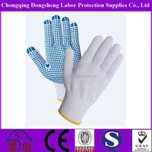 qualified international standard pvc dotted cotton gloves